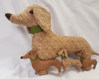 Daschund, Sausage Dog, Decorative cushion / pillow, Handmade, Handcrafted, 3 D, 3 dimensional