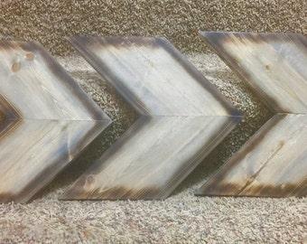 Rustic Wooden Chevron Arrows