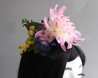 Poppin' Pink Flower Crown (Quarter Sized; Flower Girl Style)