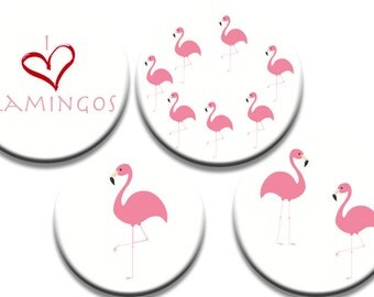 A pack of 4 I heart flamingos Pattern weights I deal for weighing down patterns on delicate fabrics no need for pins like TV sewing Bee