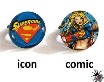 Supergirl Superhero Rings