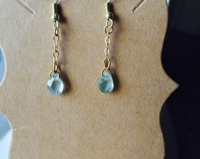 Aquamarine Simple Dangle Earrings