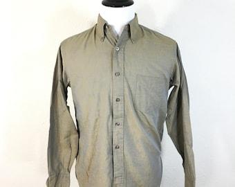 60's vintage 100% cotton button down gusset shirt mens size M