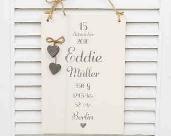 Reminder to birth shabby chic sign wooden sign name sign