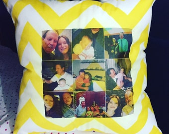 Customized Photo Pillow, 18X18 Inch Throw Pillow, Customized Case, Design Pillow