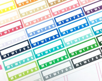 Functional - Individual habit tracker Stickers| Planner Stickers, side bar sticker, habit tracker, check list sticker, functional sticker
