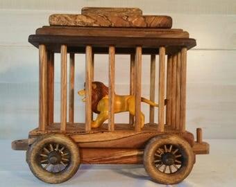 Train, Toy, Circus Train, Circus Car, Wooden Train Car, Train Circus Car, Child's Toy, Circus Train, Handmade Train Car, Wooden Toy,