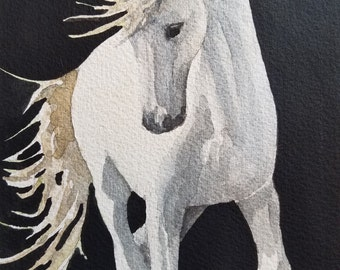 Gray Horse print