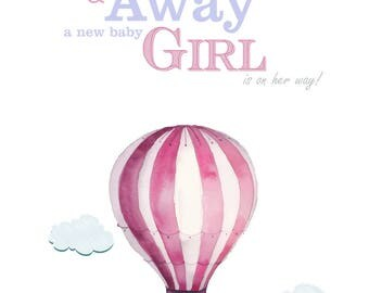 Baby Shower Up Up and Away theme, Baby Shower Decorations Girl, Baby Shower Printables, Baby Shower Download, Baby Shower Sign