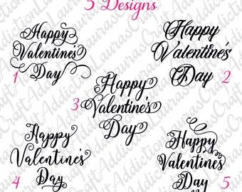 5 Happy Valentine's Day designs, svg dxf pdf cut files for Silhouette Cricut, Valentine's day svg, Valentine's day dxf, Valentine's decor