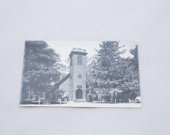 Vintage Postcard from The Little Brown Church in Nashua Iowa