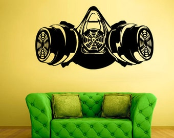 rvz2036 Wall Decal Vinyl Decal Sticker Decals Gas Mask Respirator