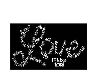 For God so loved the world that He gave His only begotten Son John 3:16 SVG DFX Cut file  Cricut explore file t shirt decal