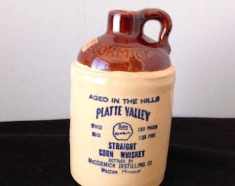 Vintage McCormick Distilling Co. 1/2 Pint Corn Whiskey Bottle