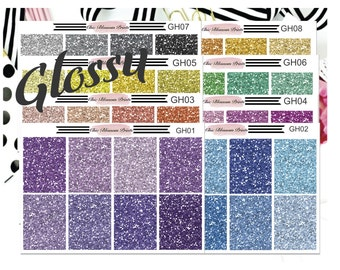 Glitter Headers, Erin Condren, Happy Planner, Recollections Planner, Planner Stickers, Plan with Me, Plan As I Go, ChicBlossomPrints