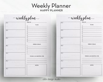 Weekly Planner, Happy Planner, Daily Schedule, MAMBI, To Do List, Daily Planner, MAMBI, Printable Planner, Daily Planner, MAMBI Planner