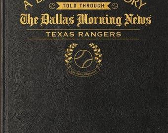 Dallas Morning News Texas Rangers Baseball Book - Leather