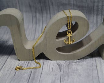 Gold-plated chain anchor