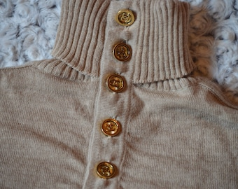 Authentic vintage CHANEL sweater buttons CC