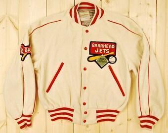 Vintage 1950's/60's Barrhead Jets VARSITY LETTERMAN Jacket / School / College /  Retro Collectable Rare