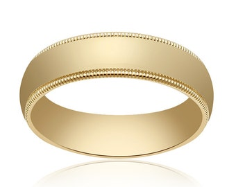 5.0mm 14K Yellow Gold Wedding Band