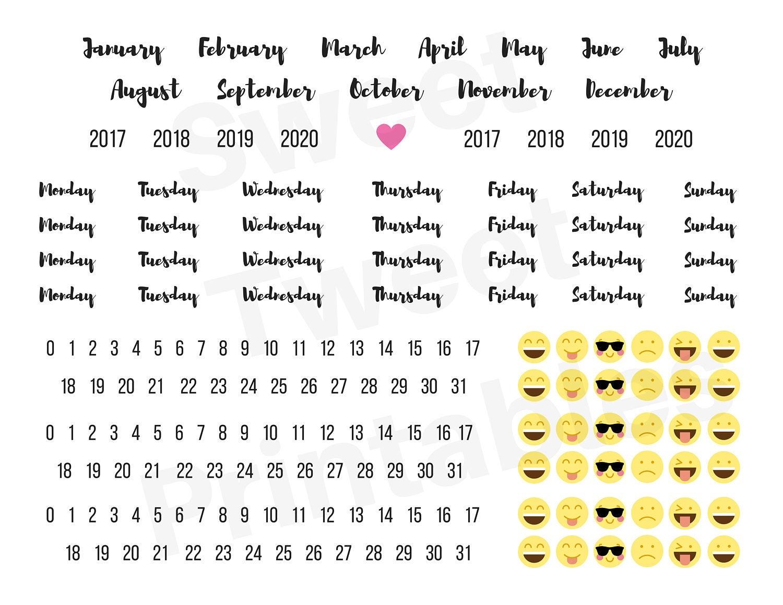 calendar words