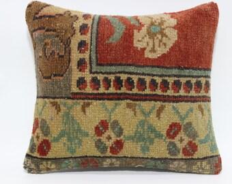 16x16 Decorative Turkish Rug Pillow Home Decor Throw Pillow Cushion Cover 16x16 Anatolian Turkish Carpet Bed Pillow Sofa Pillow SP4040-1800