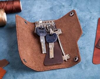 Leather Key Holder, Leather Keychain, Men leather key, purse key purse, Keychains Lanyards, key purse, key holder, key organaizer, key