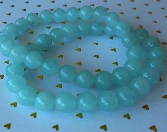 Natural Aquamarine Gemstone Bracelet - Aquamarine Bracelet - Aquamarine Gems Bracelet - Natural Stone Bracelet - Aquamarine Blue Bracelet