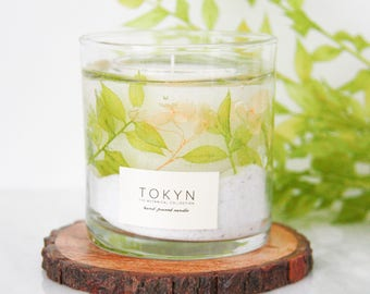The Botanical Collection ~ Izu Cape Jasmine (Crisp Green) - Scented Candle - Gift - Mother's Day Gifts -  Gifts for her