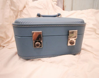 Vintage Luggage Train Case, Made in England