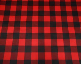 Fabrics for layer washable, pul Carrot red and black / blue and black / pul for baby diapers fabric black and red