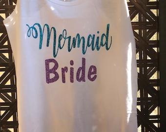 Mermaid Bride Racerback Tank