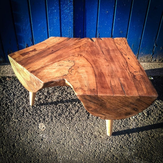 Spalted Beech Low Log side table