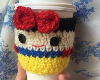 Snow White Crochet Coffee Cozy Disney