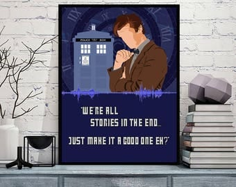 Doctor Who The Eleventh Doctor - Sound Wave Art Print - 5x7 8x10 8x12 11x14 16x20 A3 A4 A5 Sizes