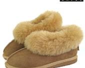 New Ladies LIVIA Womens Premium 100 Pure Twinface Sheepskin Slippers EVA Sole UGG Style