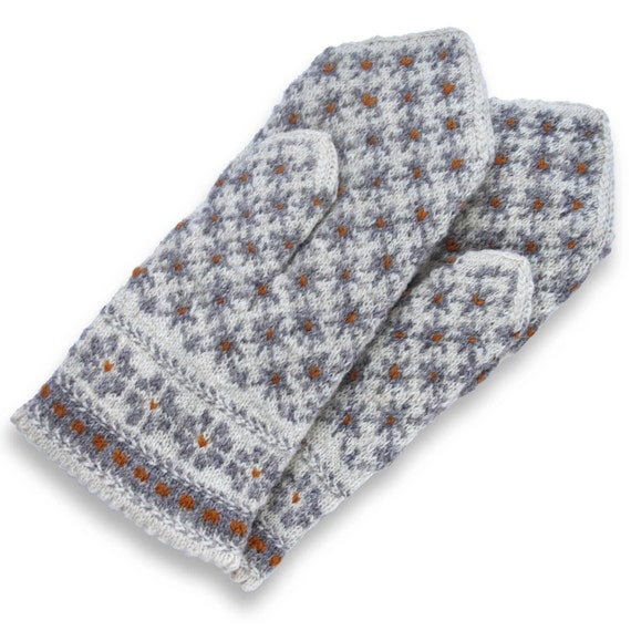 Knitting Pattern For Double Mittens : Latvian Double Mittens Knit Wool Mittens Wool Mittens
