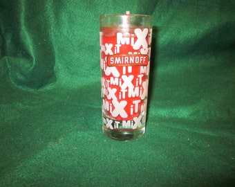 Smirnoff Vodka Mix it glass with hand poured aroma candle