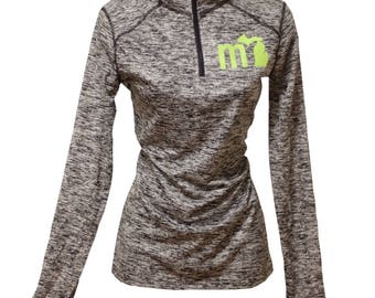 mi Black Heather Michigan Active Performance Quarter Zip