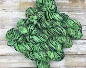 Hand Dyed Yarn | Superwash South American Wool/Nylon Blend | Robust Sock/Fingering Weight | 100 g. | Sencha Jade | 4-ply