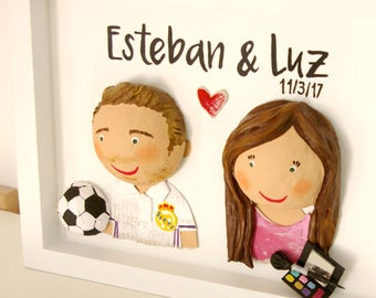 Personalized couple in order to 1 picture each