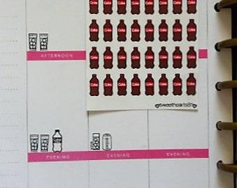 Soda/Pop Coke, Pepsi bottled beverage Planner Stickers