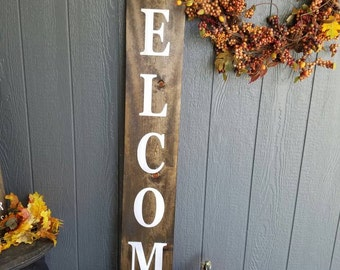 Rustic Welcome Sign|Tall Welcome Sign|Front Porch Welcome Sign|Welcome Sign|Large Welcome Sign|Rustic Porch Decor|Double Sided Welcome Sign