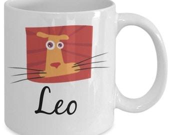 Zodiac Mug - Leo Funky Symbol - 11 oz Gift Mug