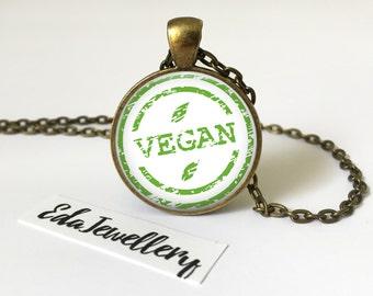 Vegan Pendant, Cruelty Free Jewellery, Veganism, Necklace