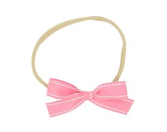 Pink Baby Headbands / Nylon Headbands / Baby Girl Headband / Newborn Headband / Baby Girl Headband / Infant Headband / Newborn Bows