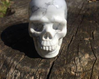 Natural Howlite Crystal Skull