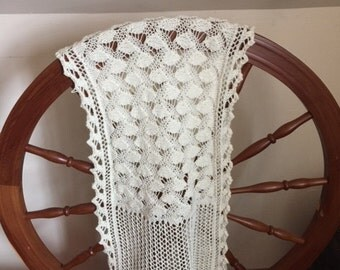 Hand-knit Lace Wrap