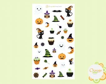 Halloween Stickers, Halloween Scrapbooking, Halloween Planner Stickers, Erin Condren Stickers, Happy Planner, Fall Stickers